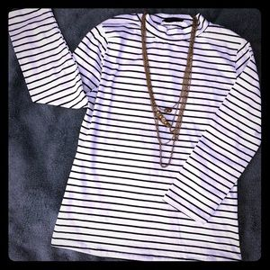 Tops - High neck striped top